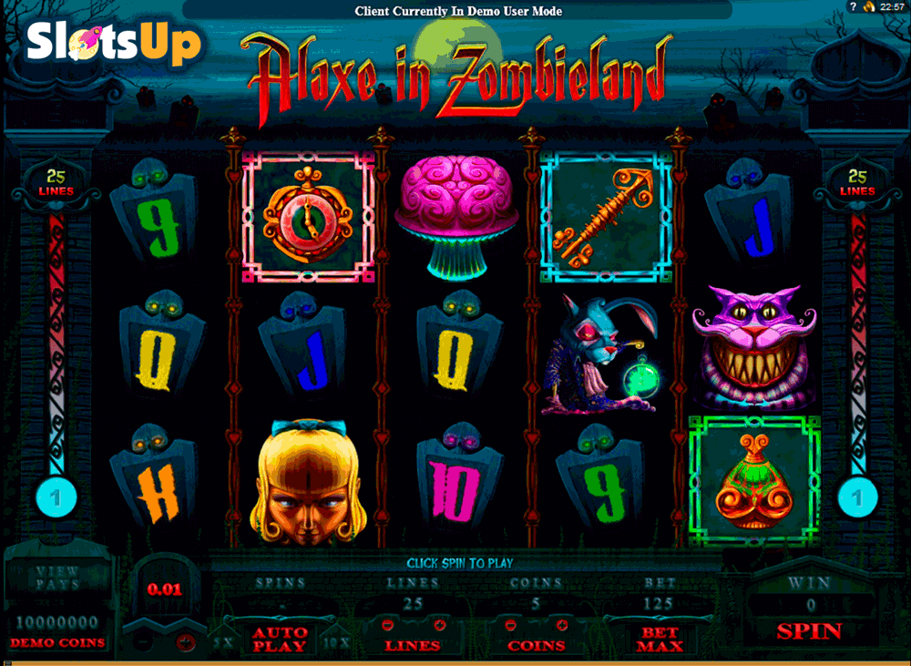 Alaxe in Zombieland™ Slot Machine Game to Play Free in Microgamings Online Casinos