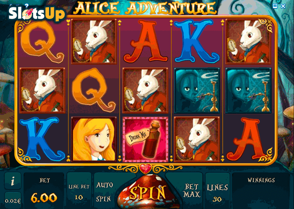 Play Adventures in Wonderland Online Slots at Casino.com ZA