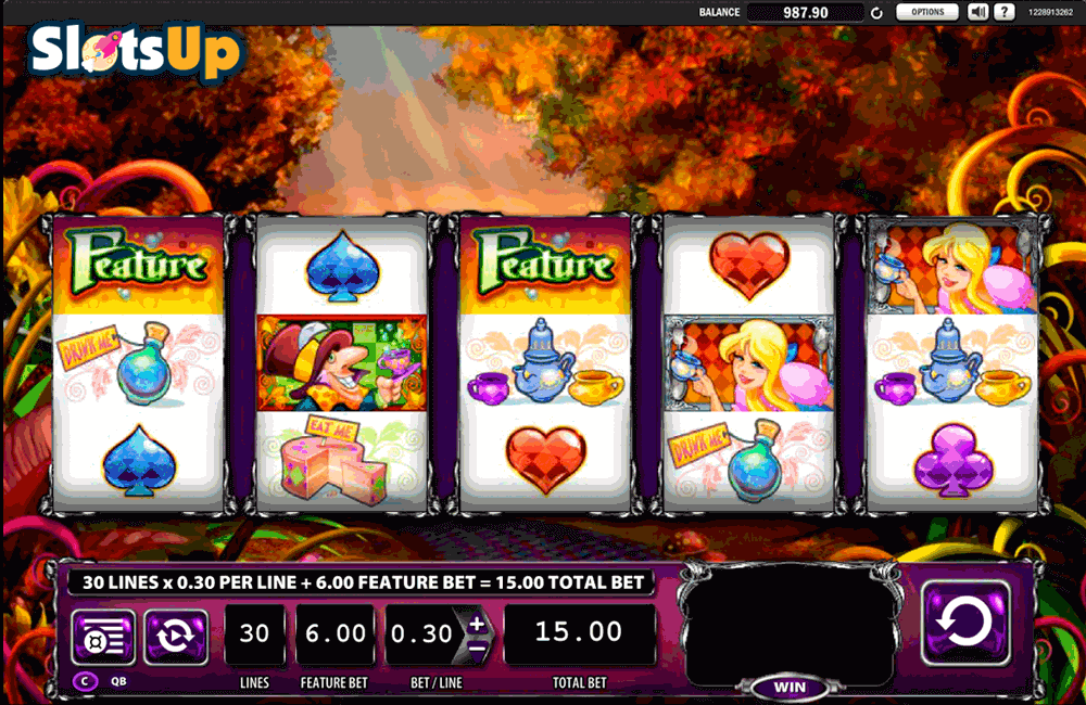 Alice & The Mad Tea Party™ Slot Machine Game to Play Free in WMS Gamings Online Casinos