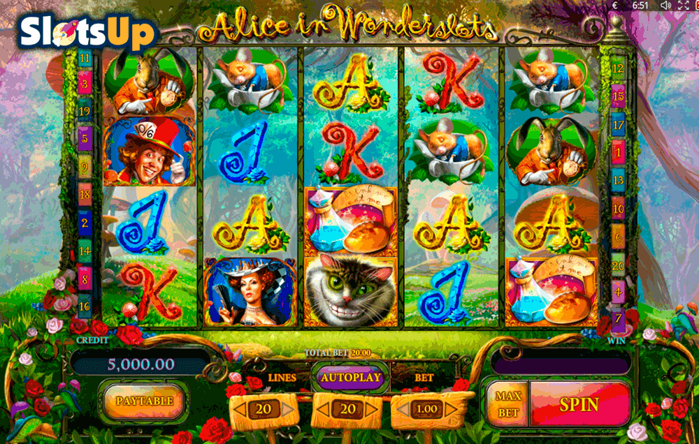 ALICE IN WONDERSLOTS PLAYSON CASINO SLOTS