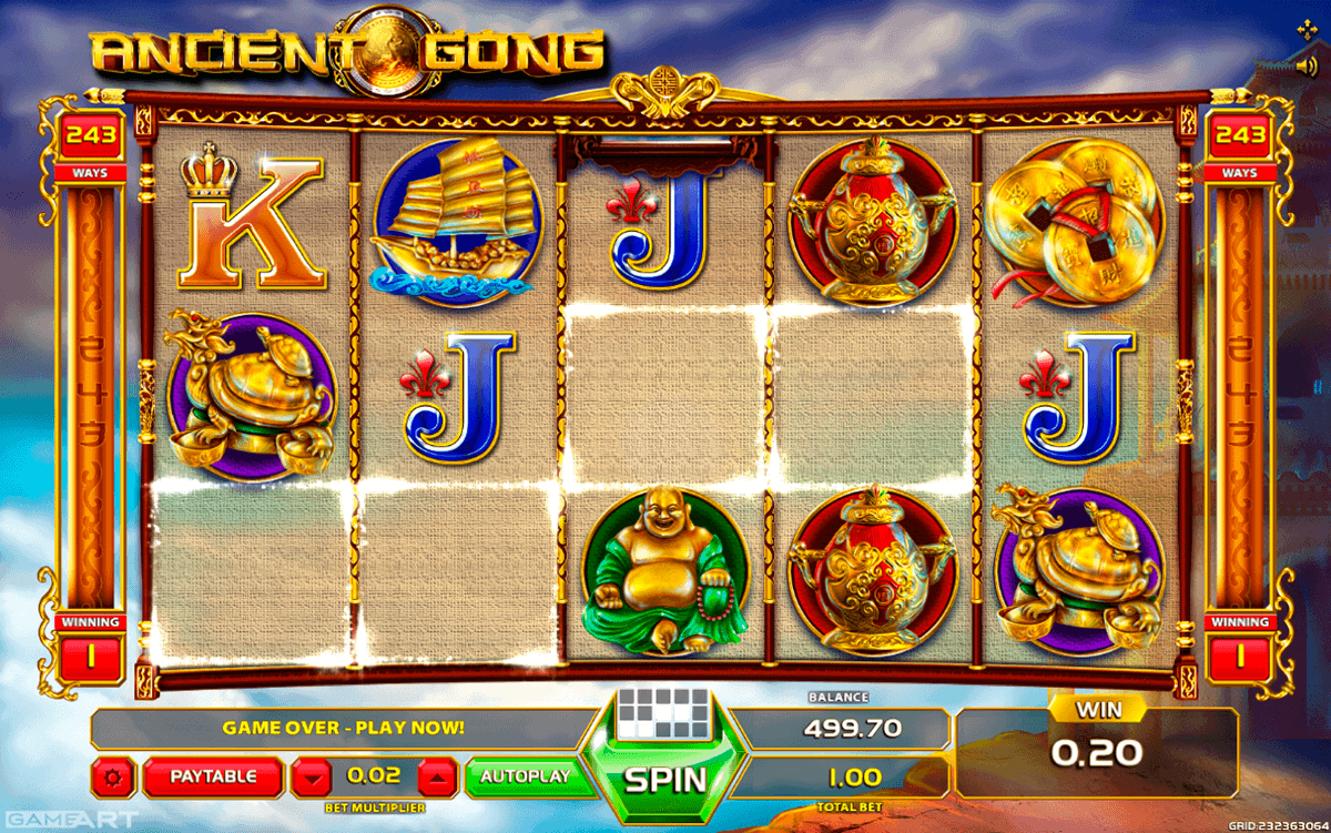 ANCIENT GONG GAMEART SLOT MACHINE