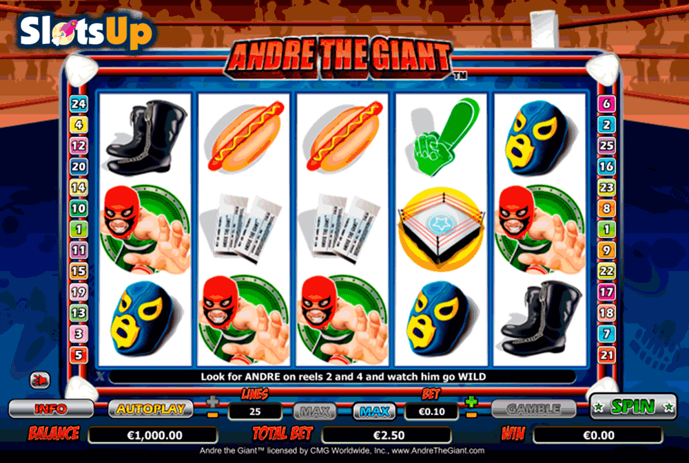 Andre The Giant™ Slot Machine Game to Play Free in NextGen Gamings Online Casinos