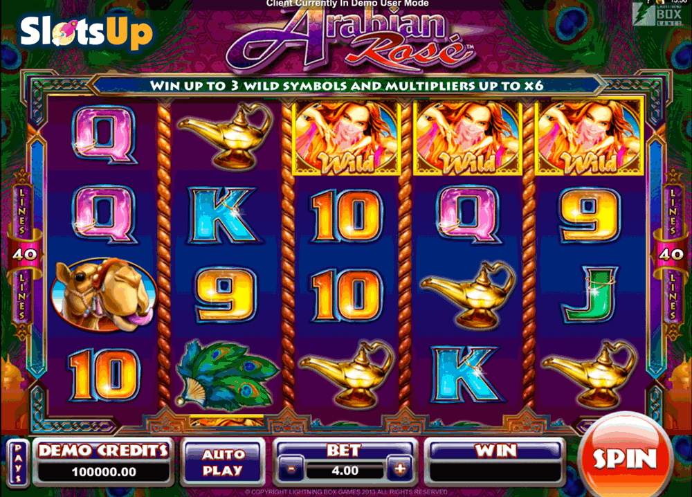 ARABIAN ROSE MICROGAMING CASINO SLOTS