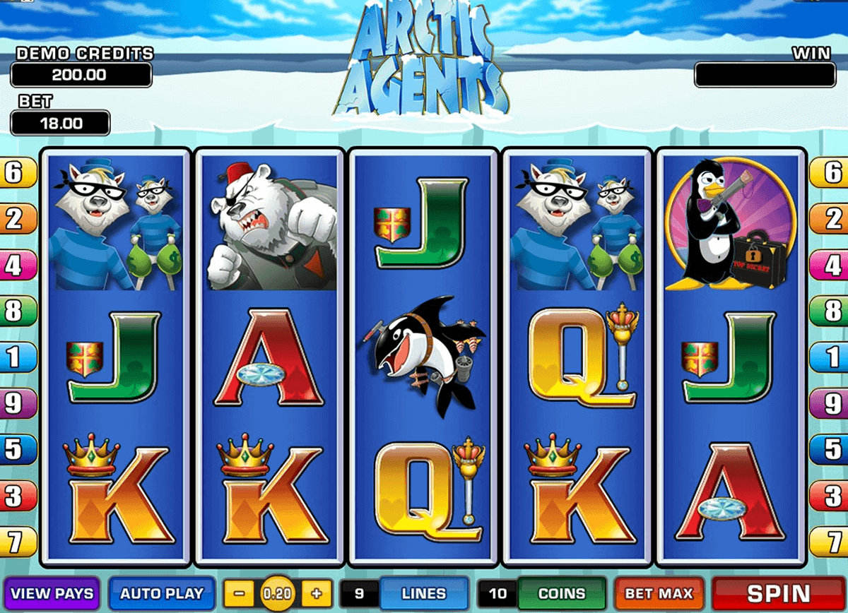 ARCTIC AGENTS MICROGAMING CASINO SLOTS