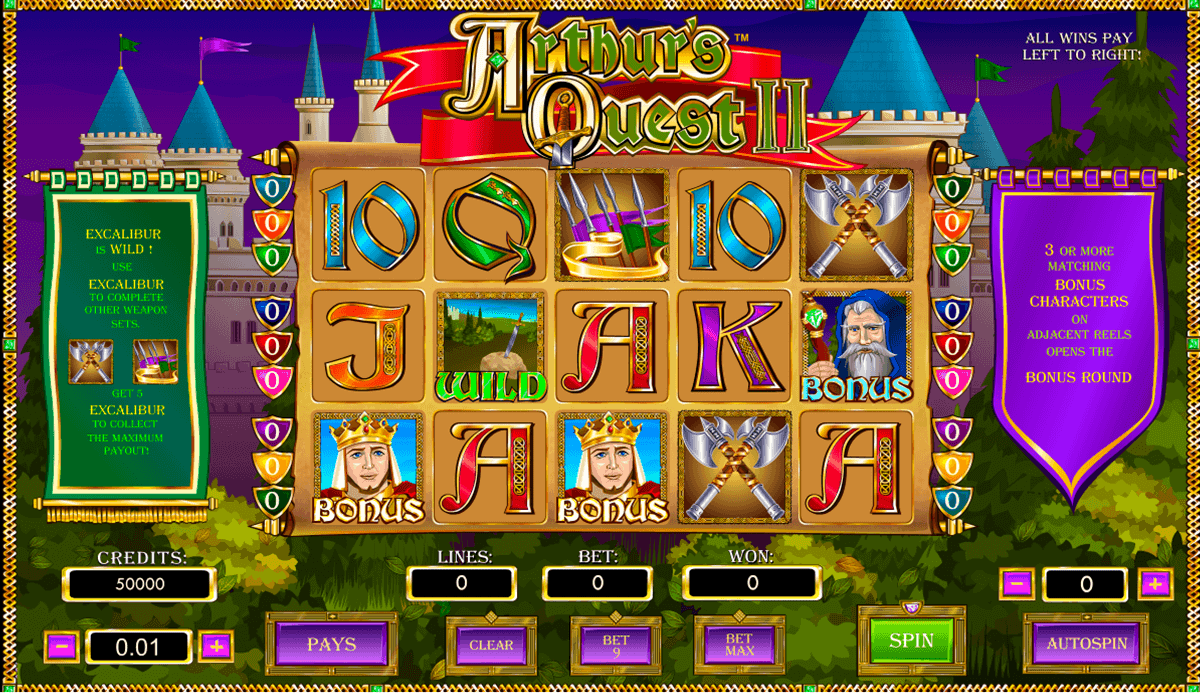 Quest of Kings™ Slot Machine Game to Play Free in Cryptologics Online Casinos