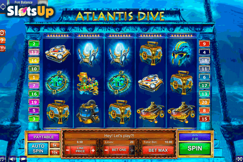Atlantis Dive Slot Machine Online ᐈ GamesOS™ Casino Slots