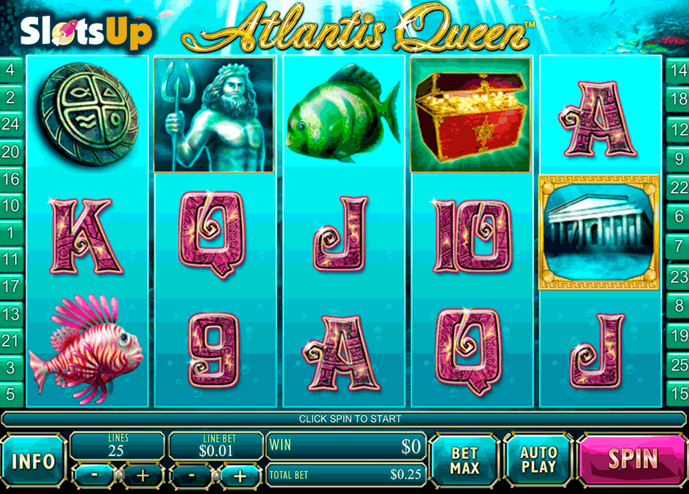 Queen of Atlantis Slots - Play Free Casino Slots Online