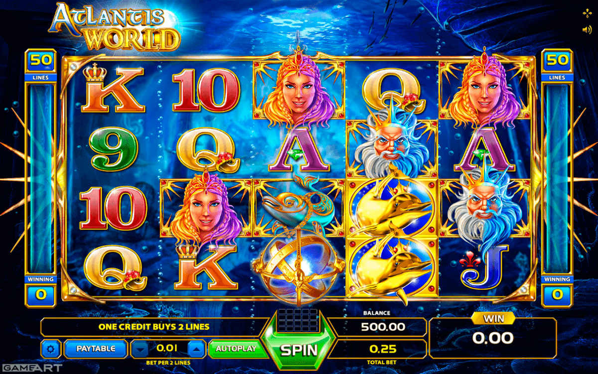 ATLANTIS WORLD GAMEART SLOT MACHINE