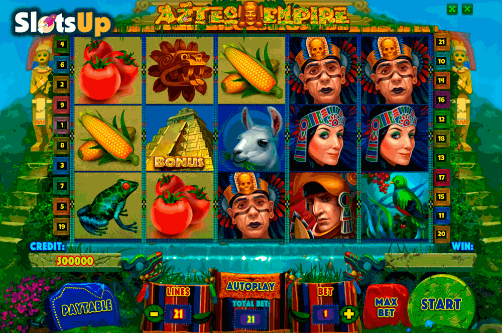 aztec empire playson casino slots