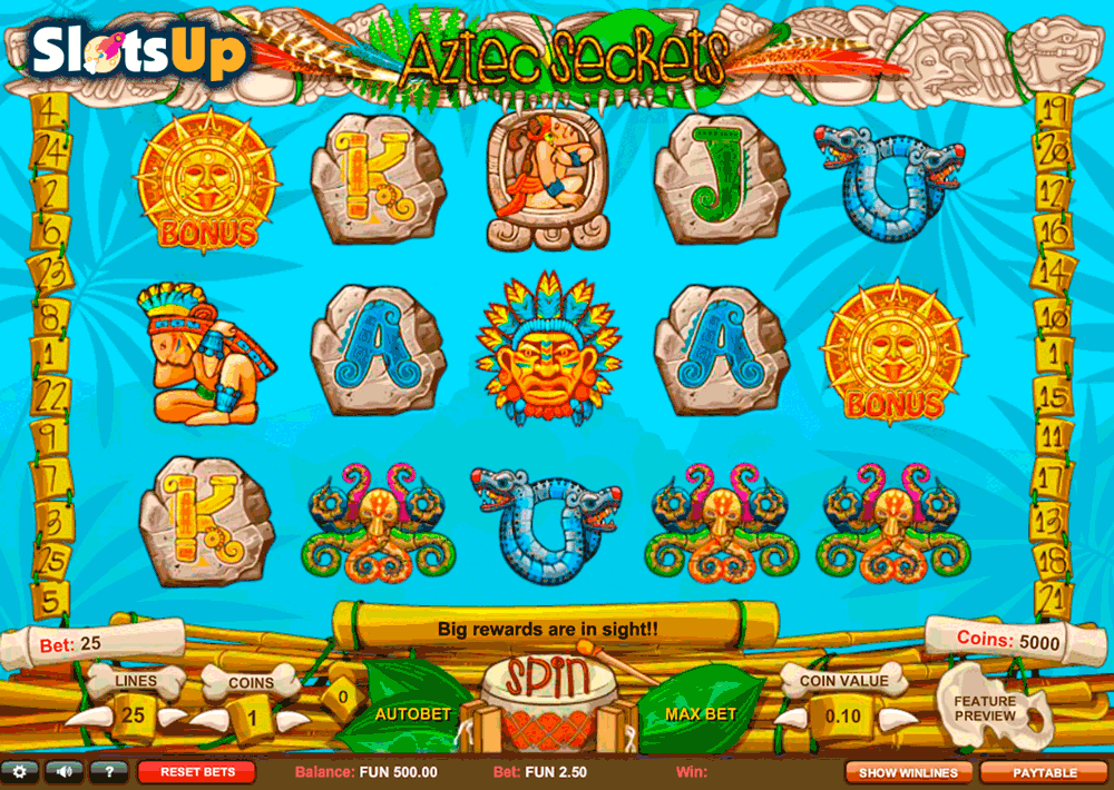 Spirits of Aztec Slots - Play for Free & Win for Real