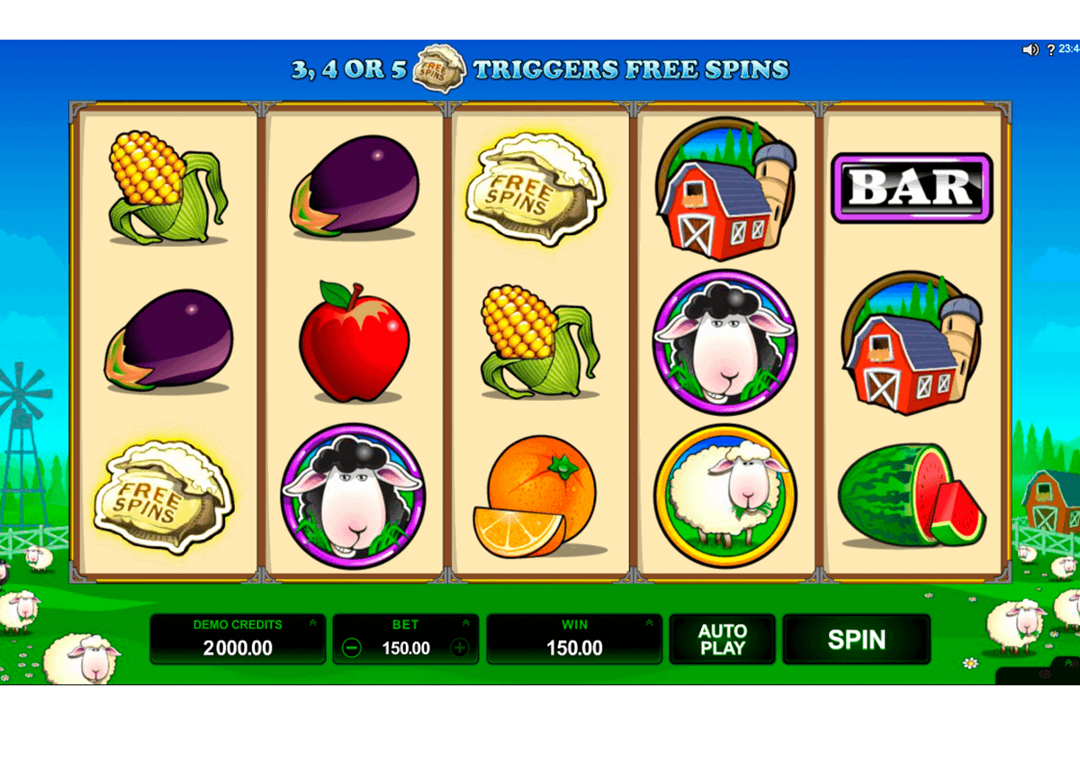 BAR BAR BLACK SHEEP 5 REEL MICROGAMING CASINO SLOTS