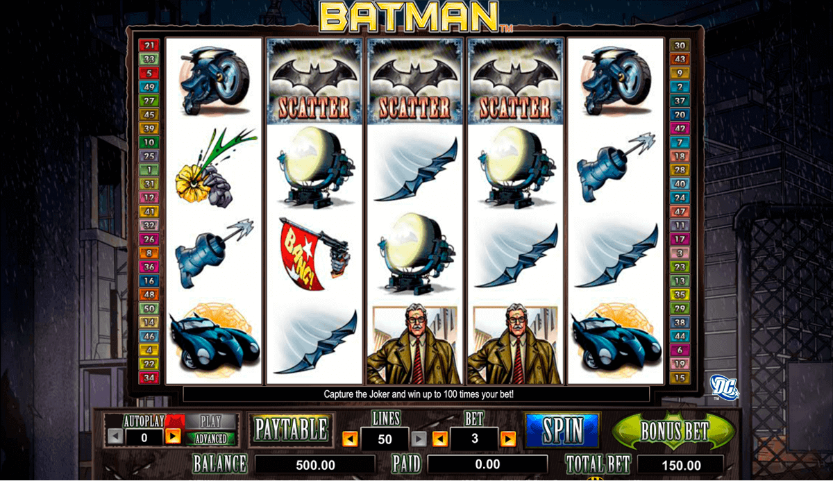 Batman slot machine online grand jeu carte bancaire casino