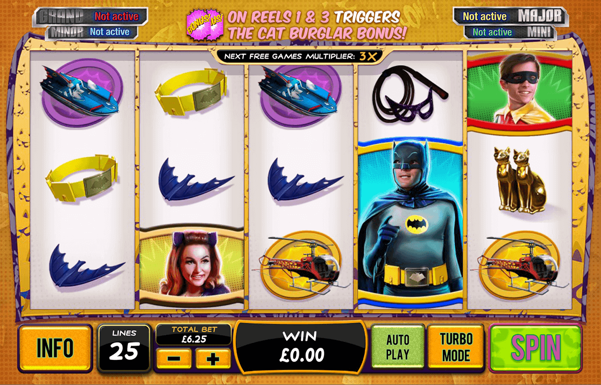 batman catwoman cash playtech casino slots