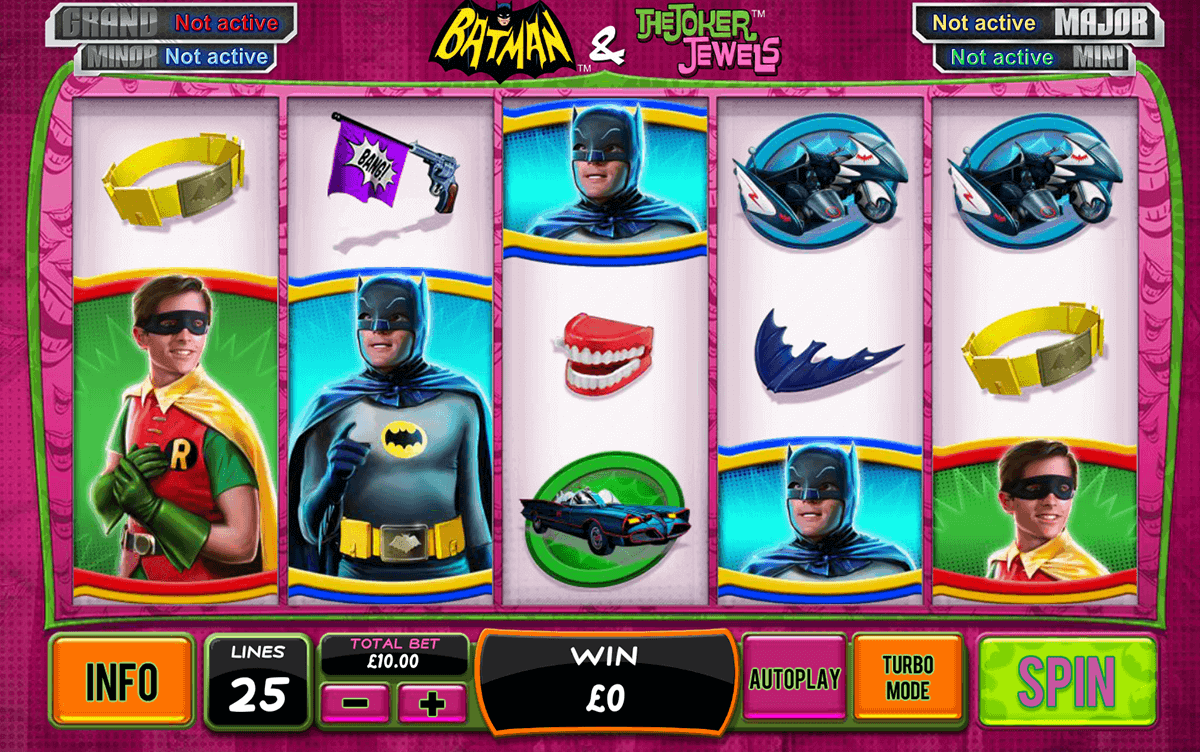 batman the joker jewels playtech casino slots