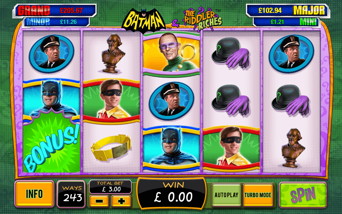 Batman the riddler riches playtech casino slots chess