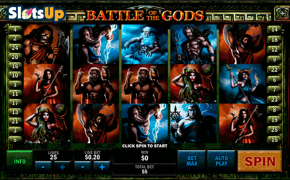BATTLE OF THE GODS PLAYTECH CASINO SLOTS