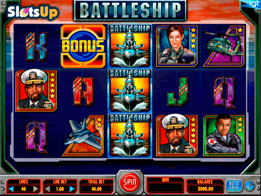 Battleship video slot game online casino using neteller