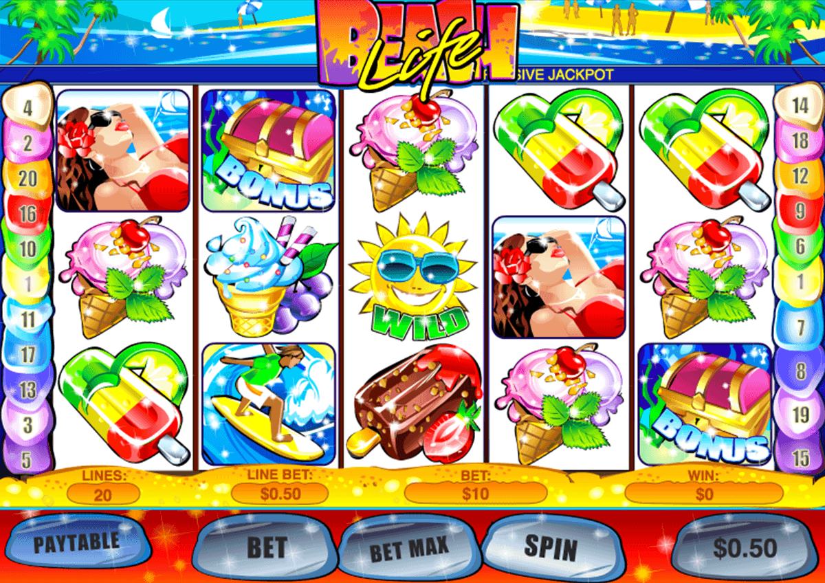 Beach Party™ Slot Machine Game to Play Free in Playtechs Online Casinos