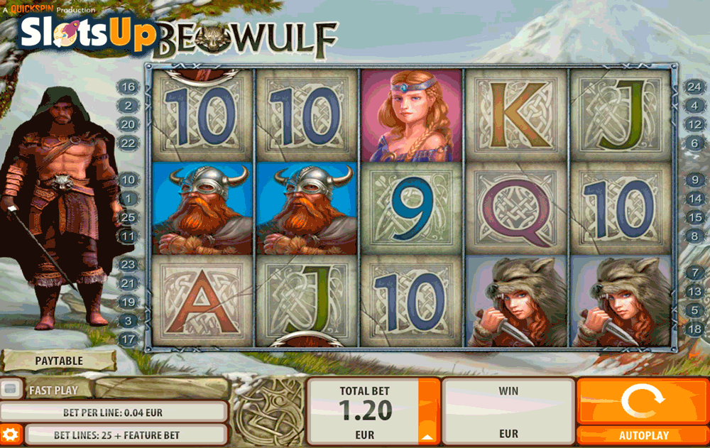Beowulf Slot Machine by Quickspin - Play Online for Free