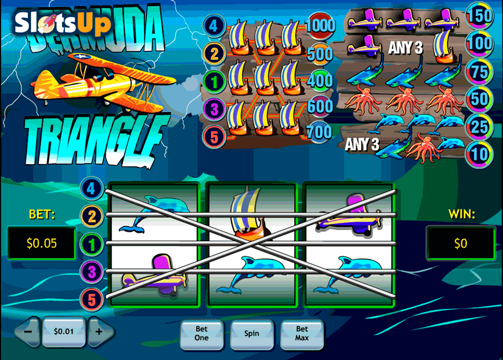 Bermuda Triangle™ Slot Machine Game to Play Free in Playtechs Online Casinos