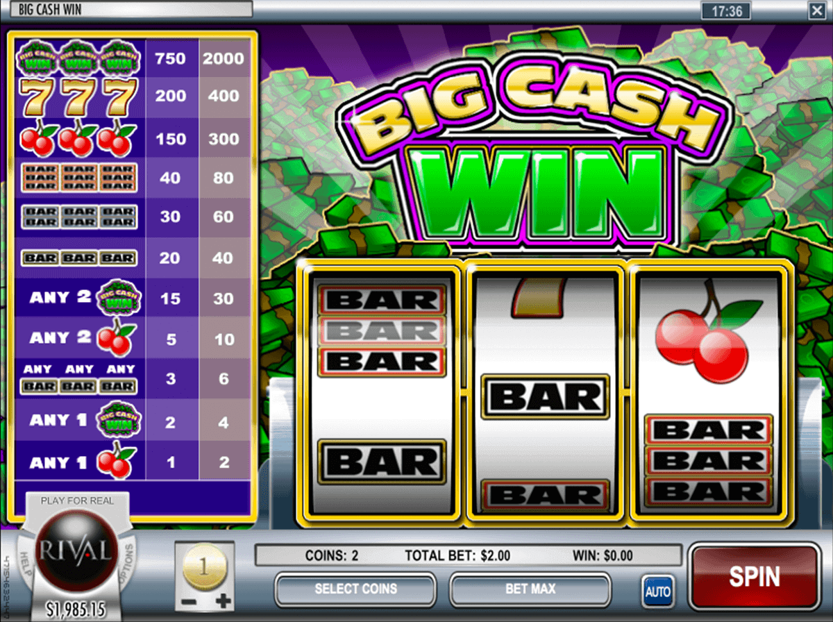 Casino slots win real cash