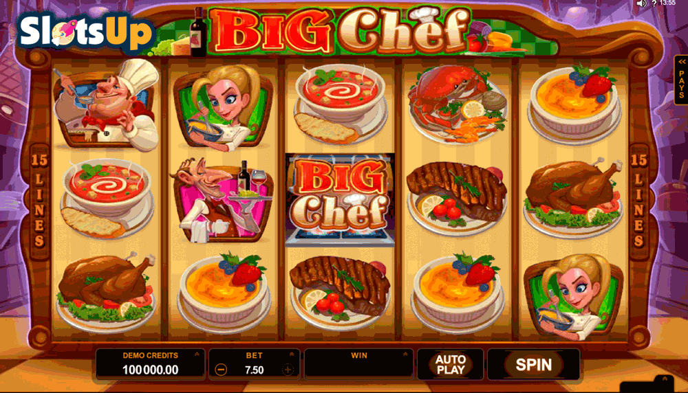 Chef Mario Slots - Play the Free Casino Game Online