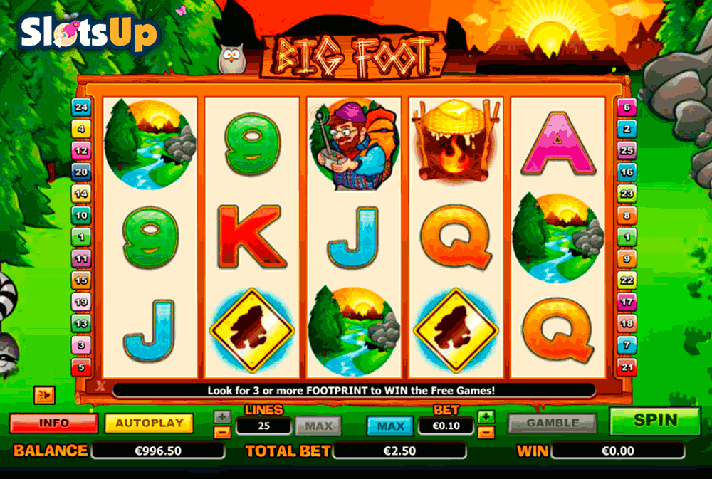 Mr. Big Foot Slot Machine - Play Free Casino Slot Games