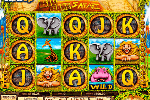 big game safari multislot casino slots