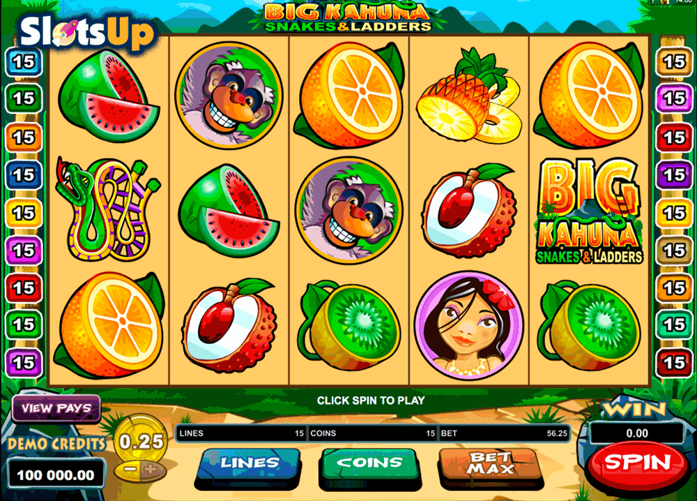BIG KAHUNA SNAKES AND LADDERS MICROGAMING CASINO SLOTS