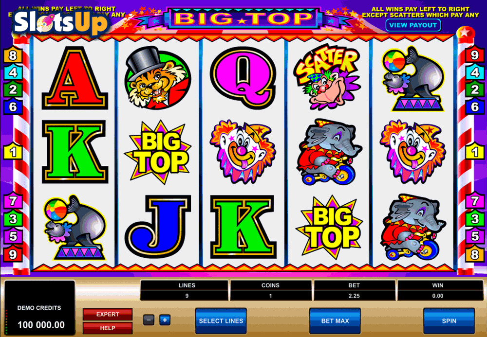 big top microgaming casino slots
