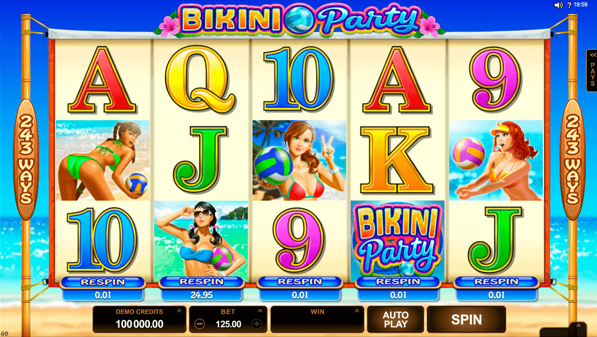 BIKINI PARTY MICROGAMING CASINO SLOTS