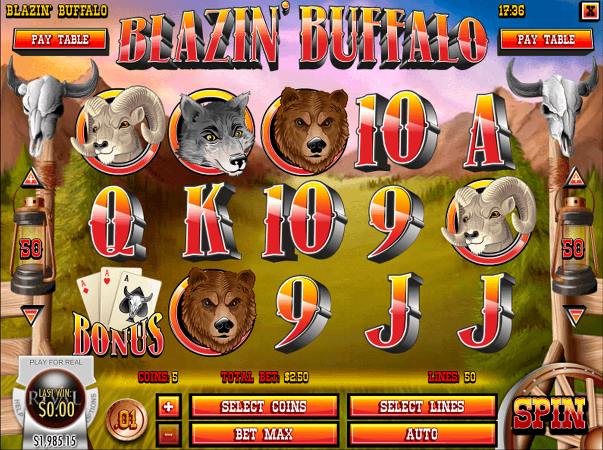 Blazin Buffalo™ Slot Machine Game to Play Free in Rivals Online Casinos
