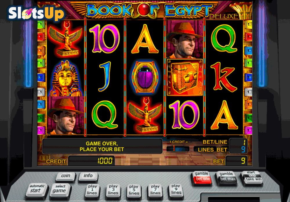 test online casino book of free