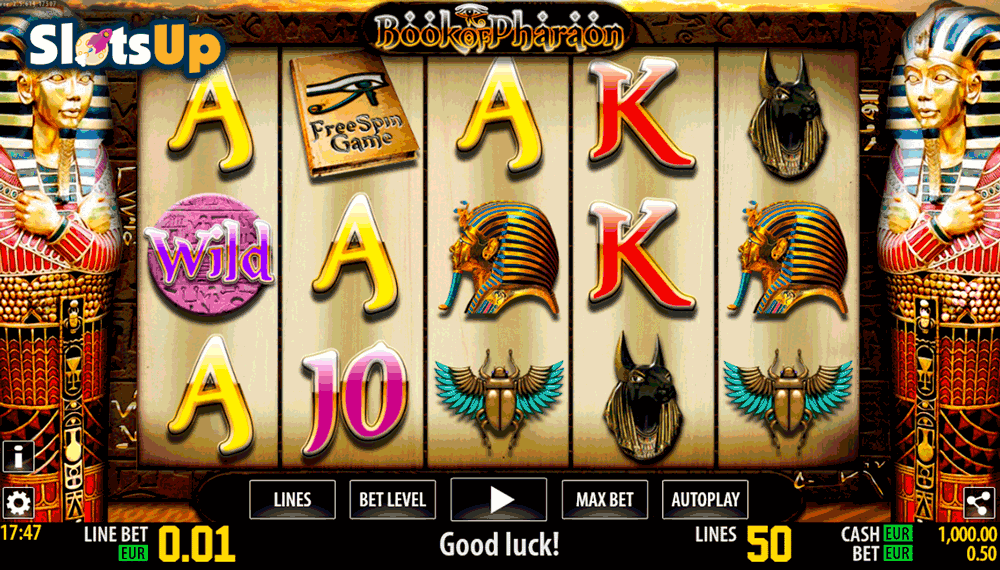 Book of Pharaon Slot Machine - Play Online for Free Money