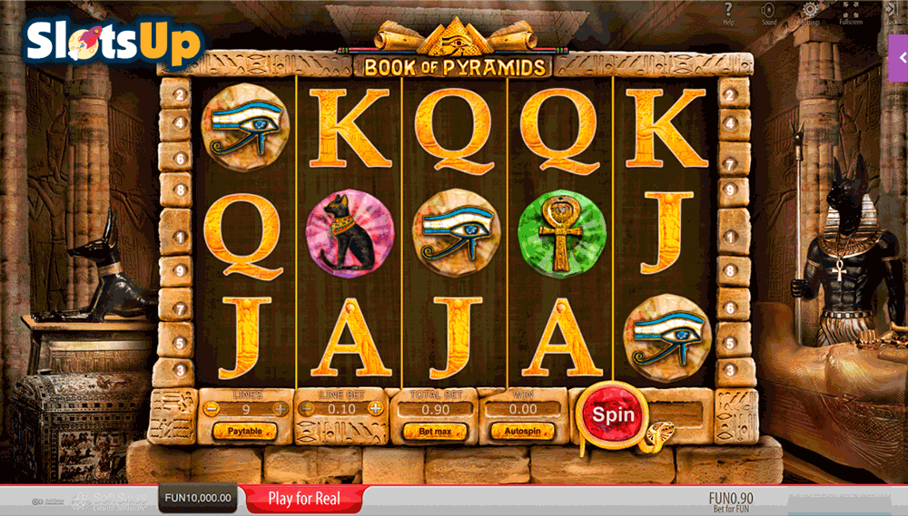 online casino slot book of free