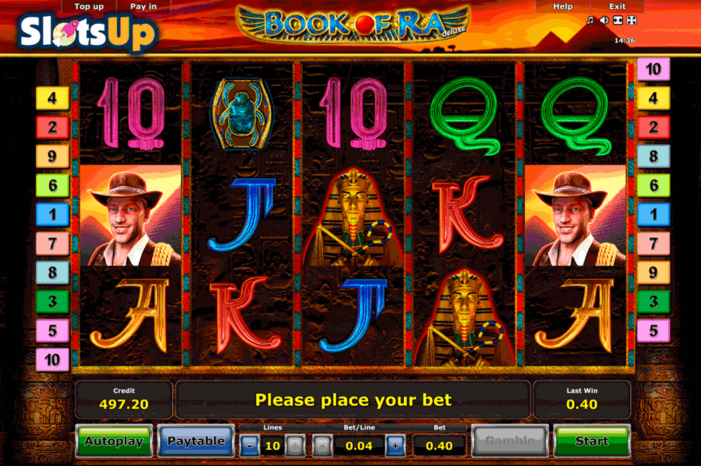 play online casino slots book of rar