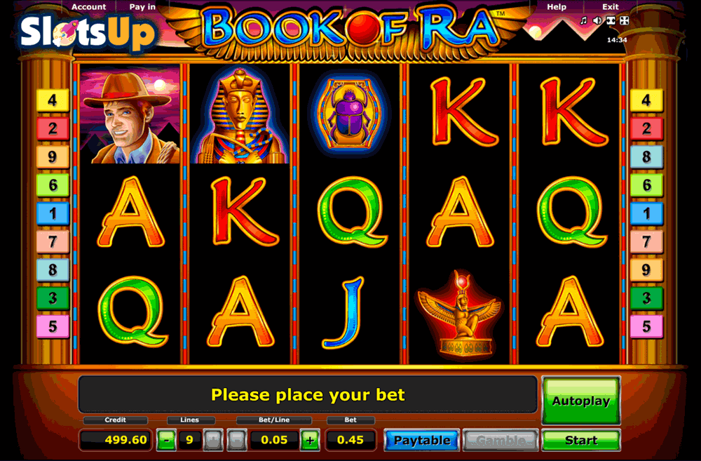 online casino slot book of ra for free