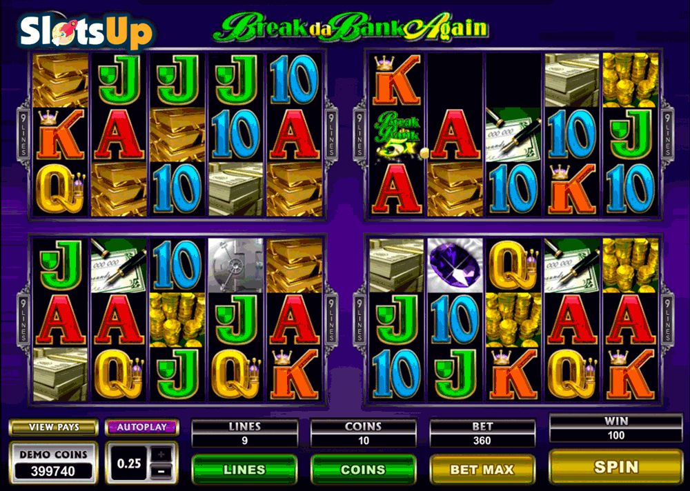 Break da Bank Slot Game Review.Microgaming's Break da Bank free slot has three rows, three reels and five pay this classic online casino game which imitates old good slot machine and win great prizes.The game has simple rules – just place your bet and spin the reels.4/5(82).Ortaca
