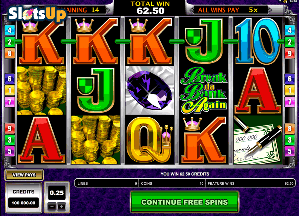 Break Da Bank™ Slot Machine Game to Play Free in Microgamings Online Casinos