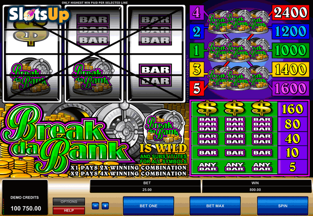 BREAK DA BANK MICROGAMING CASINO SLOTS