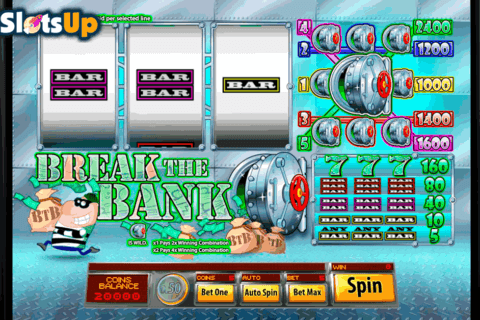 BREAK THE BANK SAUCIFY CASINO SLOTS