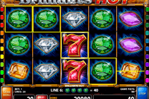 BRILLIANTS HOT CASINO TECHNOLOGY SLOT MACHINE