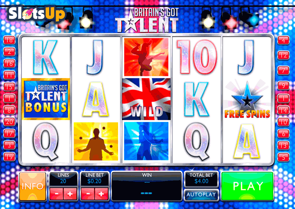 BRITAINS GOT TALENT PLAYTECH CASINO SLOTS