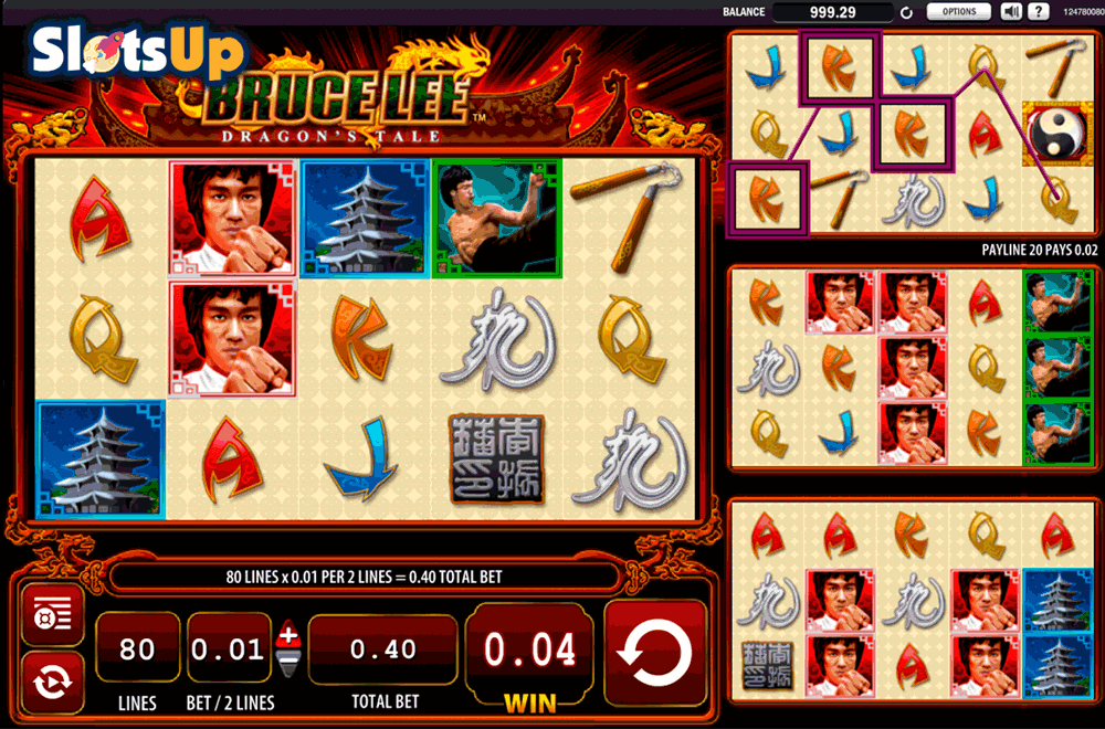 bruce lee dragons tale wms casino slots