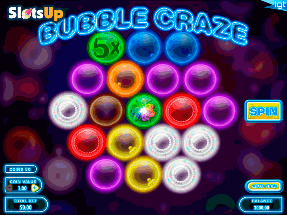 Bubble Craze™ Slot Machine Game to Play Free in IGTs Online Casinos
