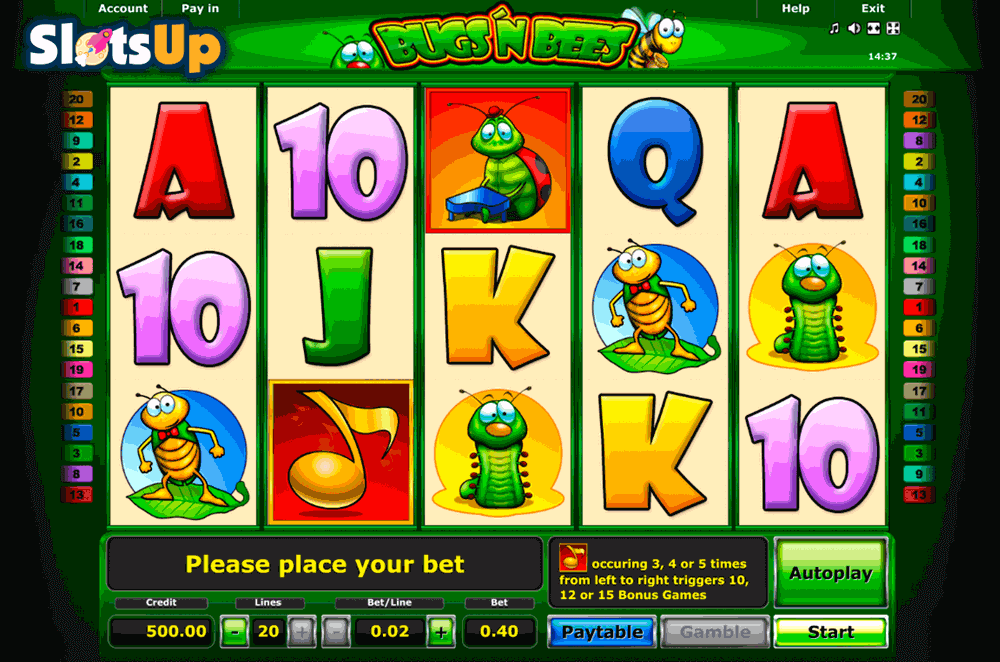 Bugsn Bees Slot Machine Online ᐈ Novomatic™ Casino Slots