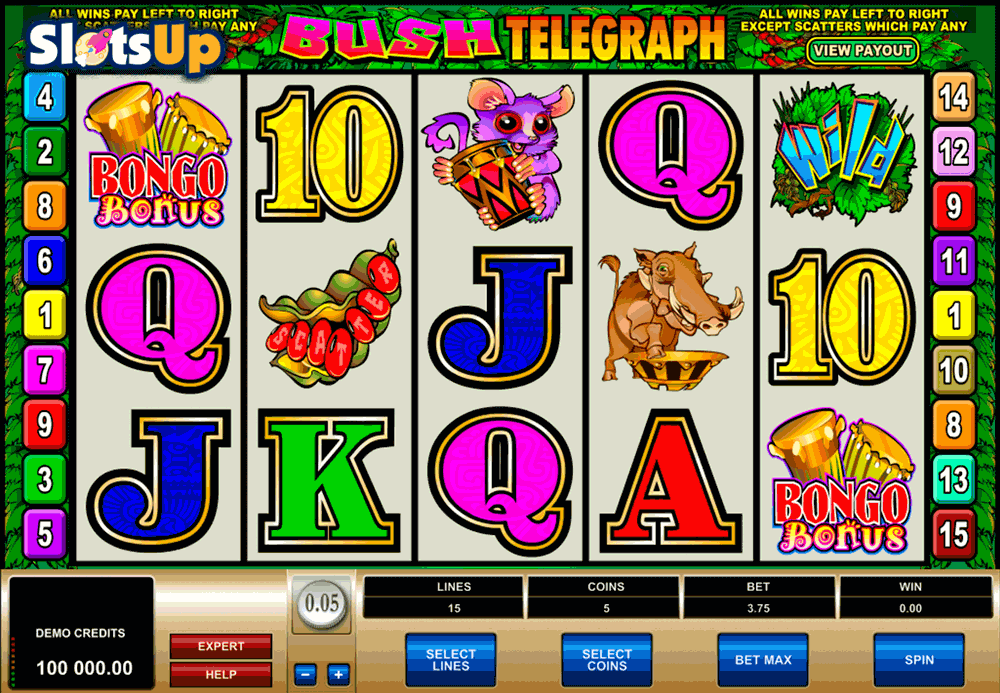 BUSH TELEGRAPH MICROGAMING CASINO SLOTS
