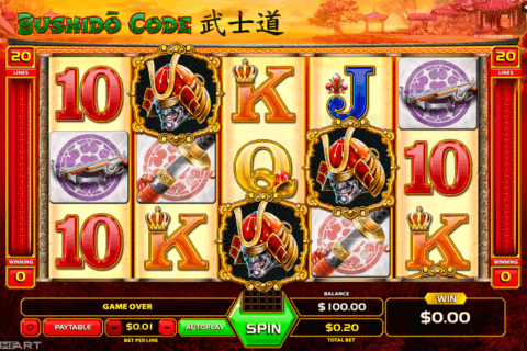 bushido code gameart slot machine 480x320
