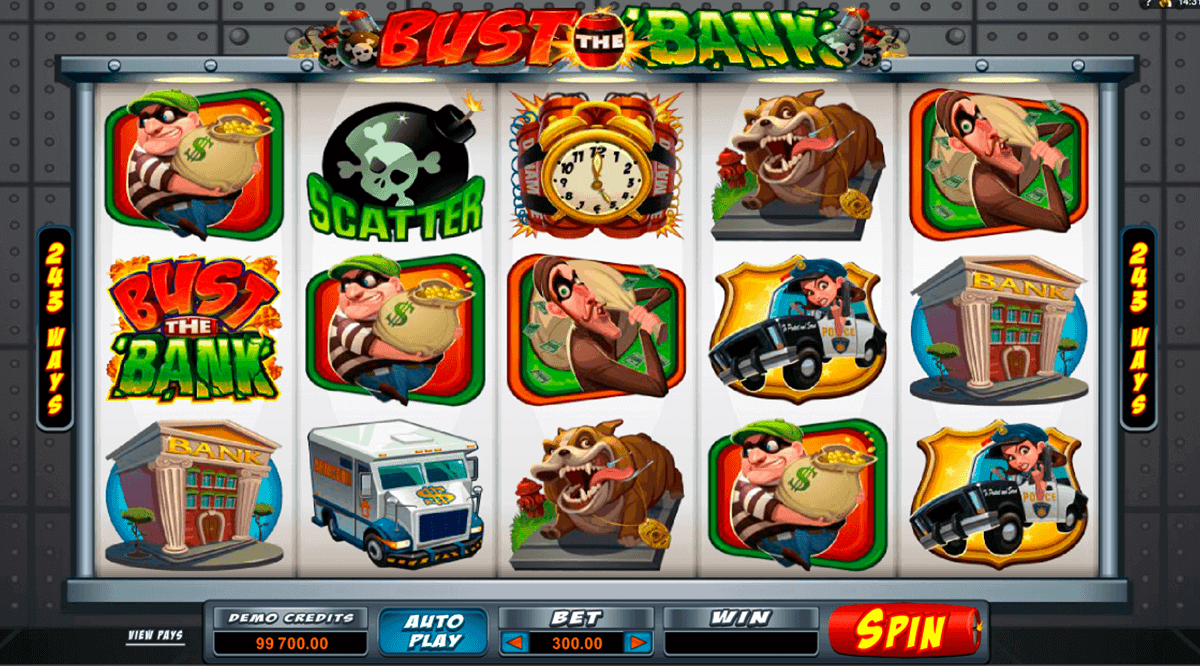 BUST THE BANK MICROGAMING CASINO SLOTS