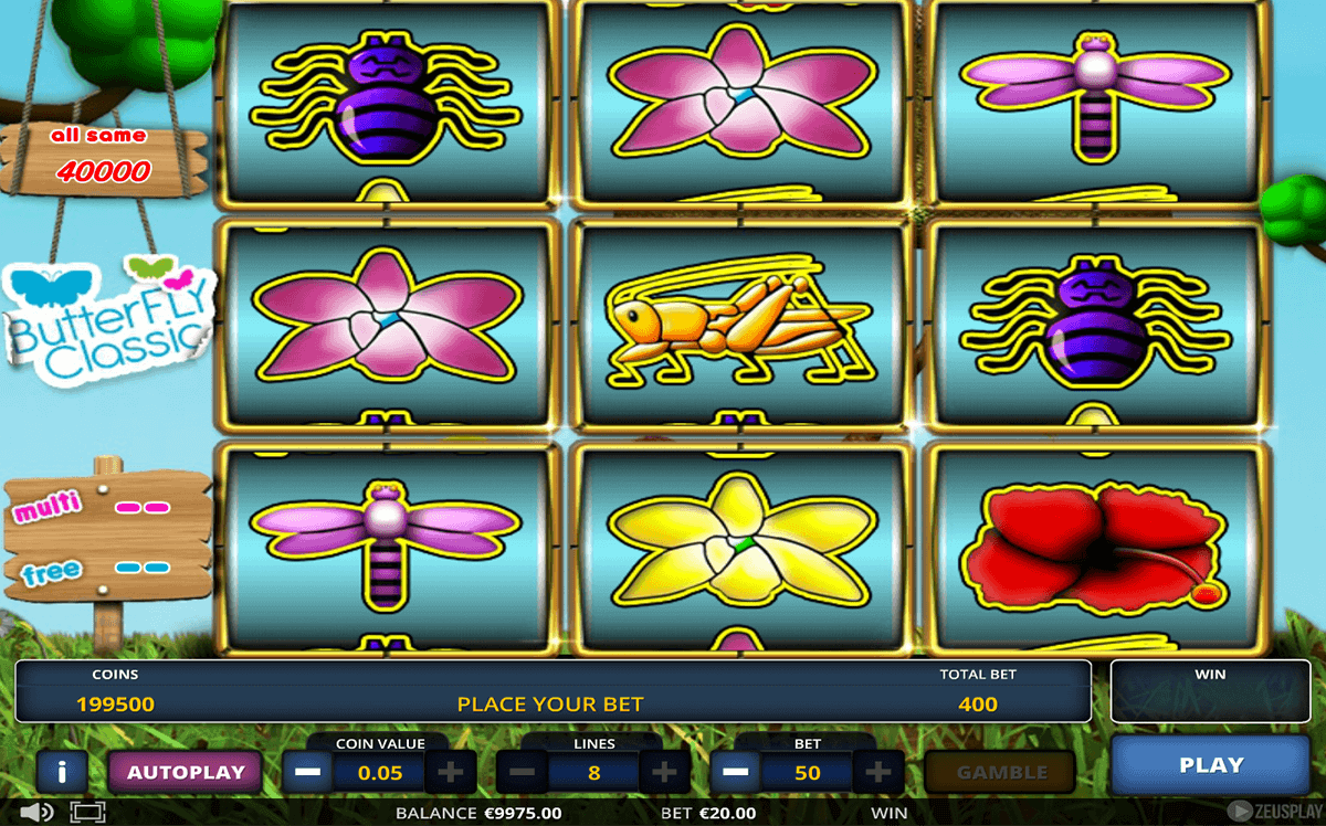 Butterfly Hot 20 Slot Machine - Play it Now for Free